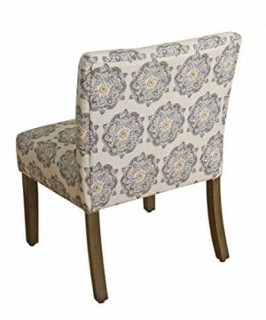 HomePop Parker Accent Chair With Pillow Gray Medallion 0 0 300x360
