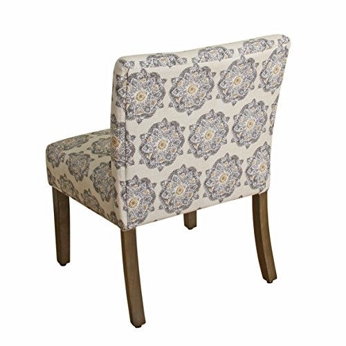 HomePop Parker Accent Chair With Pillow Gray Medallion 0 0