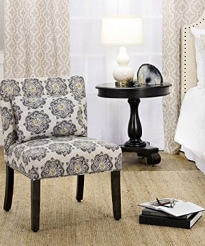 HomePop Parker Accent Chair With Pillow Gray Medallion 0 2 300x360