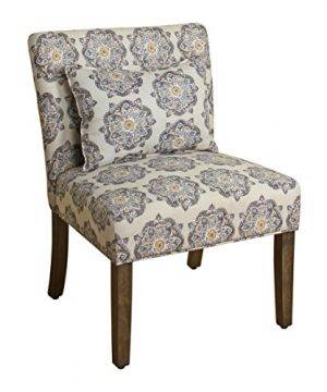 HomePop Parker Accent Chair With Pillow Gray Medallion 0 300x360