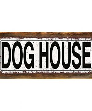 Homebody Accents Framed Dog House 6x16 Metal Sign Rustic Pets Game Room Hand Crafted From Reclaimed Materials 0 300x360