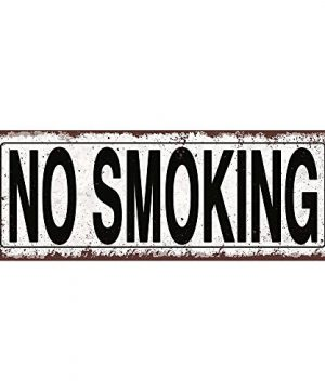 Homebody Accents TM No Smoking Metal Street Sign Rustic Vintage 0 300x360
