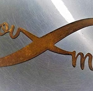 Infinity Naturally Rusted Steel Word Art 18 Inches 0 0 300x294
