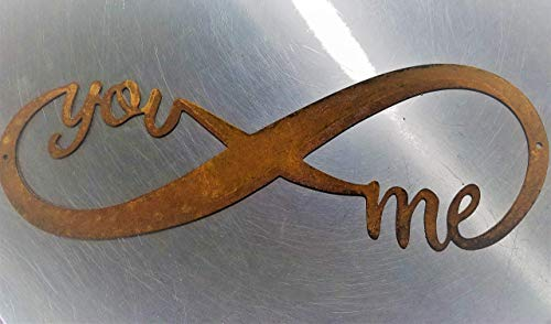 Infinity Naturally Rusted Steel Word Art 18 Inches 0 0