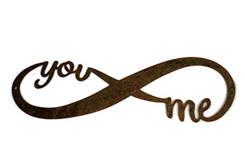 Infinity Naturally Rusted Steel Word Art 18 Inches 0 1