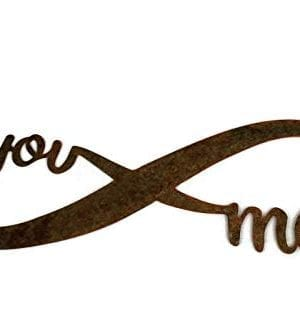 Infinity Naturally Rusted Steel Word Art 18 Inches 0 3 300x331