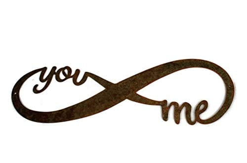 Infinity Naturally Rusted Steel Word Art 18 Inches 0 3
