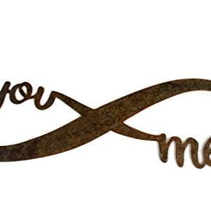 Infinity Naturally Rusted Steel Word Art 18 Inches 0 300x319