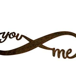 Infinity Naturally Rusted Steel Word Art 18 Inches 0 4 300x330