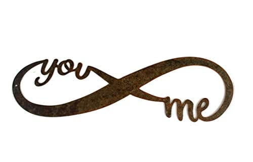 Infinity Naturally Rusted Steel Word Art 18 Inches 0