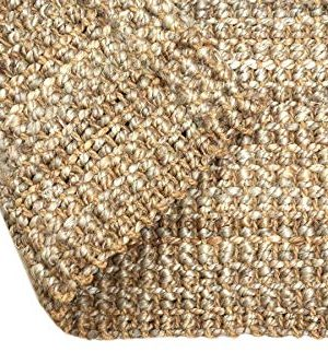 Iron Gate Handspun Jute Area Rug 24x36 Natural Hand Woven By Skilled Artisans 100 Jute Yarns Thick Ribbed Construction Reversible For Double The Wear Rug Pad Recommended 0 0 300x333