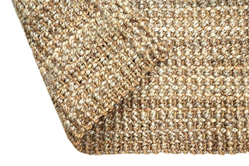 Iron Gate Handspun Jute Area Rug 24x36 Natural Hand Woven By Skilled Artisans 100 Jute Yarns Thick Ribbed Construction Reversible For Double The Wear Rug Pad Recommended 0 0