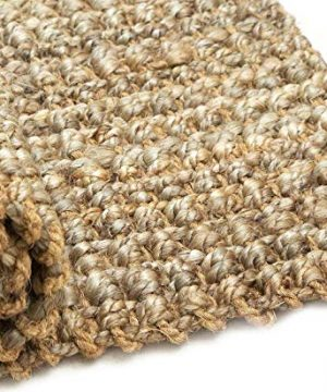 Iron Gate Handspun Jute Area Rug 24x36 Natural Hand Woven By Skilled Artisans 100 Jute Yarns Thick Ribbed Construction Reversible For Double The Wear Rug Pad Recommended 0 1 300x360