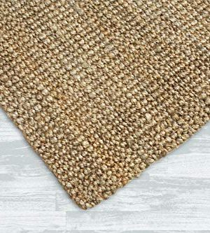 Iron Gate Handspun Jute Area Rug 24x36 Natural Hand Woven By Skilled Artisans 100 Jute Yarns Thick Ribbed Construction Reversible For Double The Wear Rug Pad Recommended 0 2 300x333