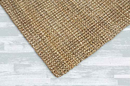 Iron Gate Handspun Jute Area Rug 24x36 Natural Hand Woven By Skilled Artisans 100 Jute Yarns Thick Ribbed Construction Reversible For Double The Wear Rug Pad Recommended 0 2