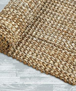 Iron Gate Handspun Jute Area Rug 24x36 Natural Hand Woven By Skilled Artisans 100 Jute Yarns Thick Ribbed Construction Reversible For Double The Wear Rug Pad Recommended 0 3 300x360