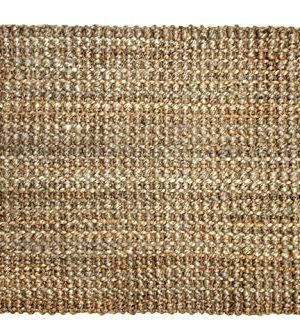 Iron Gate Handspun Jute Area Rug 24x36 Natural Hand Woven By Skilled Artisans 100 Jute Yarns Thick Ribbed Construction Reversible For Double The Wear Rug Pad Recommended 0 300x333