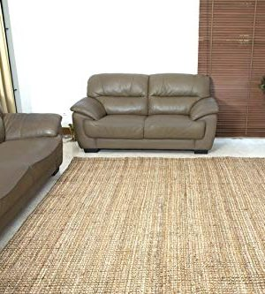 Iron Gate Handspun Jute Area Rug 24x36 Natural Hand Woven By Skilled Artisans 100 Jute Yarns Thick Ribbed Construction Reversible For Double The Wear Rug Pad Recommended 0 4 300x333