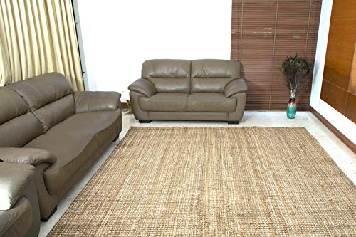 Iron Gate Handspun Jute Area Rug 24x36 Natural Hand Woven By Skilled Artisans 100 Jute Yarns Thick Ribbed Construction Reversible For Double The Wear Rug Pad Recommended 0 4