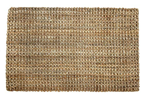 Iron Gate Handspun Jute Area Rug 24x36 Natural Hand Woven By Skilled Artisans 100 Jute Yarns Thick Ribbed Construction Reversible For Double The Wear Rug Pad Recommended 0