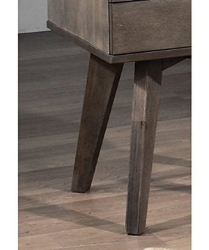 Jones Custom Solid Wood Grey Two Drawer Light Charcoal Nightstand 0 0 300x360