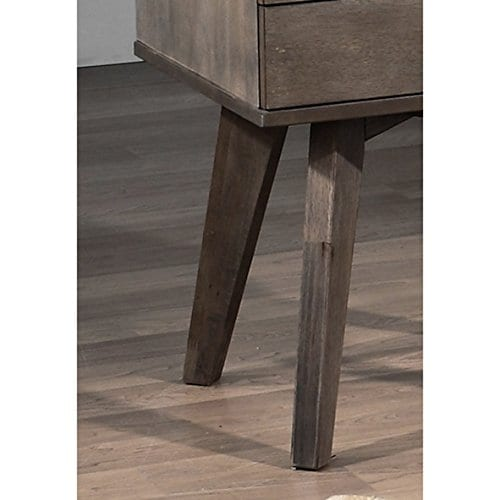 Jones Custom Solid Wood Grey Two Drawer Light Charcoal Nightstand 0 0
