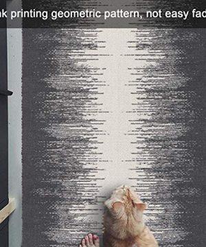 KIMODE Cotton Woven Rug 2 X 3 Farmhouse Gradient Fringe Tassels Throw Rugs Boho Print Door Mat Washable Indoor Floor Rug Runner For Bathroom Kitchen Bedroom Laundry Doorway 0 1 300x360
