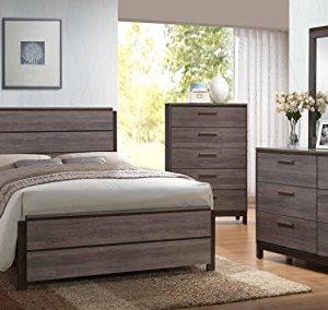 Kings Brand 6 Piece Antique Grey Wood Queen Size Bedroom Set Bed Dresser Mirror Chest 2 Night Stands 0 300x284