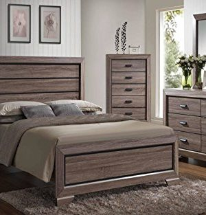 Kings Brand 6 Piece Queen Size BlackBrown Wood Modern Bedroom Furniture Set Bed Dresser Mirror Chest 2 Night Stands 0 300x313