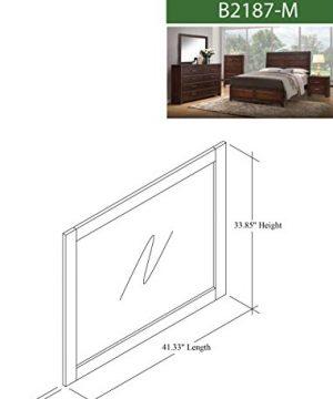 Kings Brand Furniture Aurora 6 Piece Walnut Wood King Size Bedroom Set Bed Dresser Mirror Chest 2 Nightstands 0 2 300x360