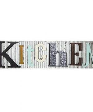 Kitchen Corrugated Metal And Wood Colorful Sign Farmhouse Dcor Galvanized Steel 0 300x360