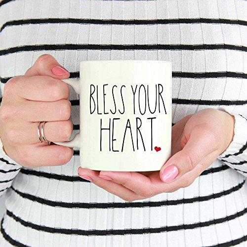 LIZNICE Bless Your Heart Southern Sayings Coffee Mug Rae Dunn Inspired Mug Farmhouse Style Mug Gift For Her MUG 15oz 0