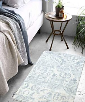 Lahome Damask Area Rug 2 X 3 Non Slip Area Rug Small Accent Distressed Throw Rugs Floor Carpet For Door Mat Entryway Bedrooms Laundry Room Decor 2 X 3 Gray 0 1 300x360