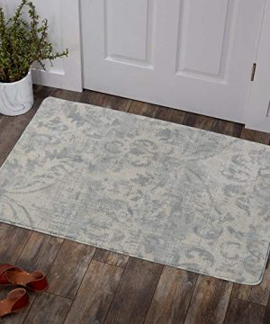 Lahome Damask Area Rug 2 X 3 Non Slip Area Rug Small Accent Distressed Throw Rugs Floor Carpet For Door Mat Entryway Bedrooms Laundry Room Decor 2 X 3 Gray 0 300x360