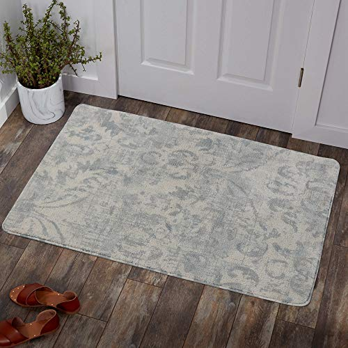 Lahome Damask Area Rug 2 X 3 Non Slip Area Rug Small Accent Distressed Throw Rugs Floor Carpet For Door Mat Entryway Bedrooms Laundry Room Decor 2 X 3 Gray 0