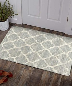 Lahome Moroccan Area Rug 2 X 3 Faux Wool Non Slip Area Rug Small Accent Distressed Throw Rugs Floor Carpet For Door Mat Entryway Bedrooms Laundry Room Decor 2 X 3 Gray 0 300x360