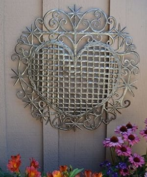 Large Metal Heart Decorative Art Symbol Erzulie Veve Handmade Recycled Metal Wall Art 23 X 225 Inches 0 0 300x360