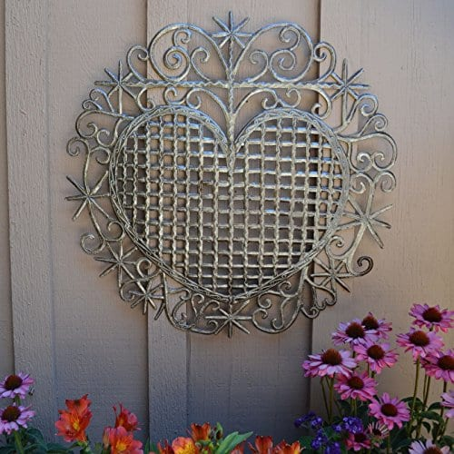 Large Metal Heart Decorative Art Symbol Erzulie Veve Handmade Recycled Metal Wall Art 23 X 225 Inches 0 0