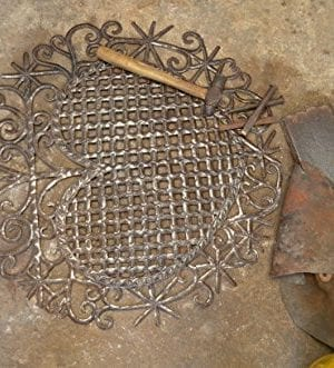 Large Metal Heart Decorative Art Symbol Erzulie Veve Handmade Recycled Metal Wall Art 23 X 225 Inches 0 4 300x331