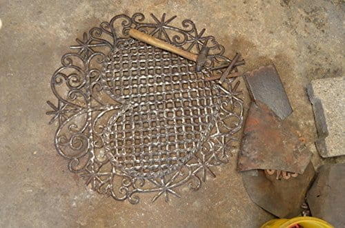 Large Metal Heart Decorative Art Symbol Erzulie Veve Handmade Recycled Metal Wall Art 23 X 225 Inches 0 4