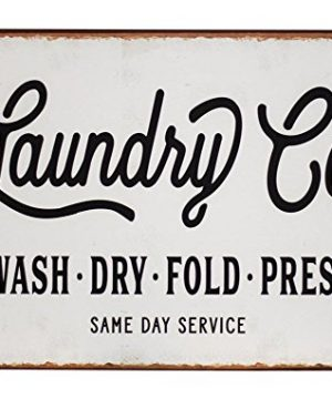 Laundry Co Distressed Vintage Farmhouse Metal Sign Laundry Room Decor 0 300x360