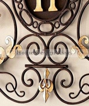 Lavish Gold Iron Scroll Monogram Initial Letter Wall Plaque Overdoor Palace 0 1 300x360