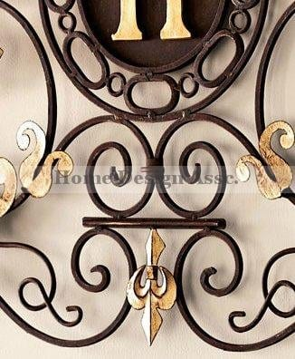 Lavish Gold Iron Scroll Monogram Initial Letter Wall Plaque Overdoor Palace 0 1