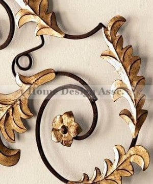 Lavish Gold Iron Scroll Monogram Initial Letter Wall Plaque Overdoor Palace 0 2 300x360