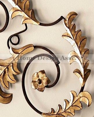 Lavish Gold Iron Scroll Monogram Initial Letter Wall Plaque Overdoor Palace 0 2