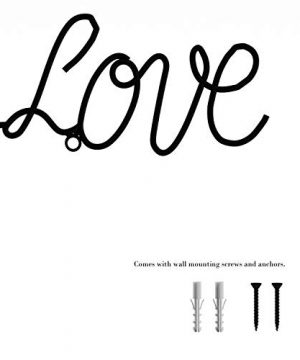 Lavish Home Metal Cutout All Things Grow With Love Cursive Sign 3D Word Art Home Accent Decor Perfect For Modern Rustic Or Vintage Farmhouse Style 0 1 300x360