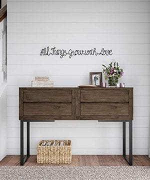 Lavish Home Metal Cutout All Things Grow With Love Cursive Sign 3D Word Art Home Accent Decor Perfect For Modern Rustic Or Vintage Farmhouse Style 0 2 300x360