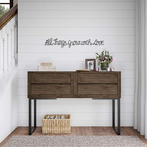 Lavish Home Metal Cutout All Things Grow With Love Cursive Sign 3D Word Art Home Accent Decor Perfect For Modern Rustic Or Vintage Farmhouse Style 0 2