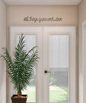 Lavish Home Metal Cutout All Things Grow With Love Cursive Sign 3D Word Art Home Accent Decor Perfect For Modern Rustic Or Vintage Farmhouse Style 0 3 300x360