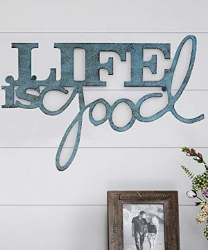 Lavish Home Metal Cutout Life Is Good Wall Sign 3D Word Art Home Accent Decor Perfect For Modern Rustic Or Vintage Farmhouse Style 0 300x360